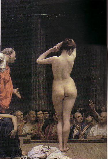 ジェローム「ローマの奴隷市場」