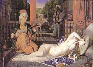 アングル「奴隷のいるオダリスク」