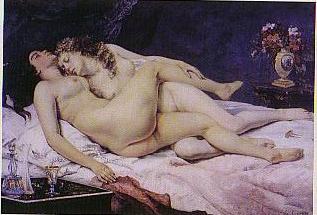 クールベ「眠り」