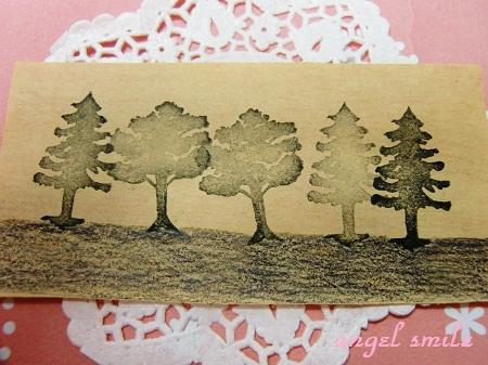 木のシルエットはんこ(針葉樹編)3