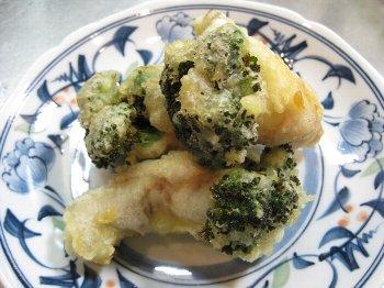 ブロッコリーの肉巻き天ぷら