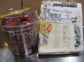 チーズとドライトマト