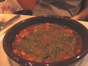 トリッパとインゲン豆の煮物