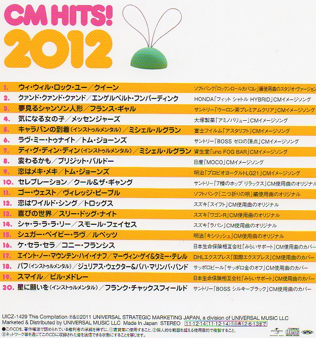CM Hits 2012