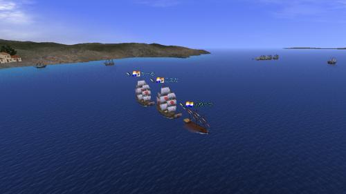 シラクサ沖マグロ漁船団