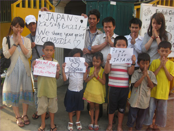カンボジアのお祈り