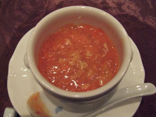 フォアグラ茶碗蒸しと特上フカヒレカニ味噌煮