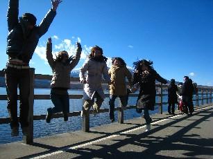 09お正月山中湖ジャンプ