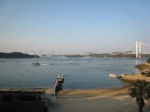 ホテルから瀬戸大橋