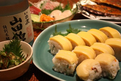 竹の子姿寿司献立