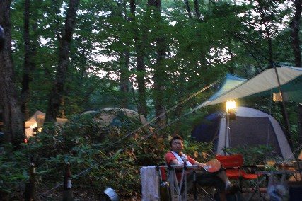 平湯キャンプ灯り仁