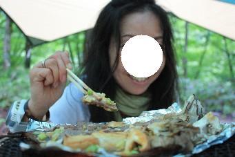 朴葉味噌焼きとマキ