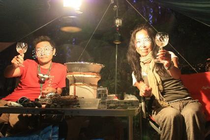 奥飛騨キャンプ乾杯2