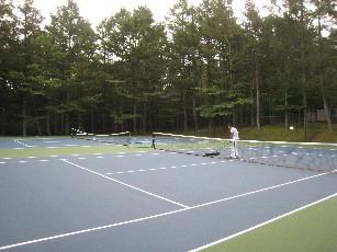 山中湖荘テニスコート