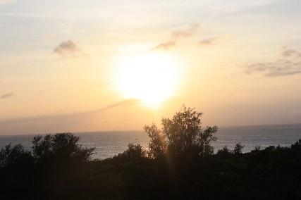 瀬底の夕日