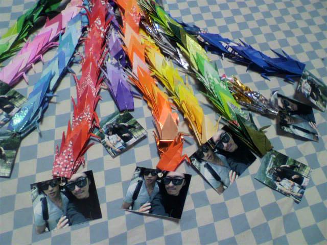 折り鶴の先