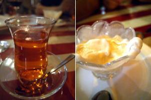 さくらんぼチャイ&トルコアイス