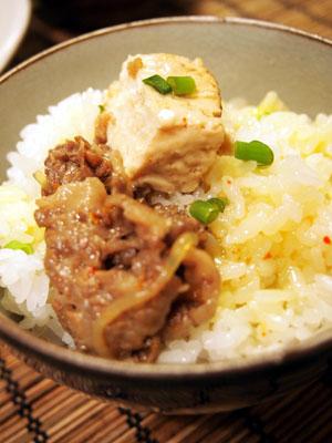 肉豆腐ご飯