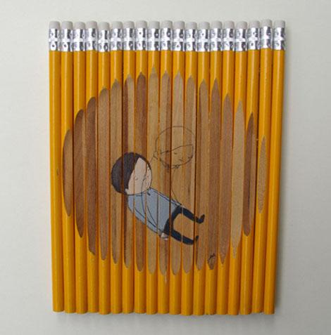 鉛筆を使ったかわいいアート