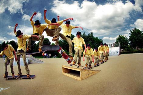 Extremeなスポーツをシーケンシャルにした写真