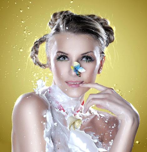 牛乳ブッカケ - Alena Nikiforova