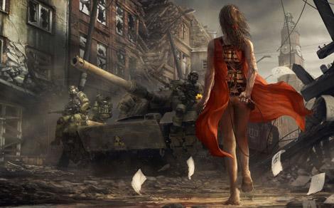 「兵士に花を渡す少女」の絵が感慨深い件について