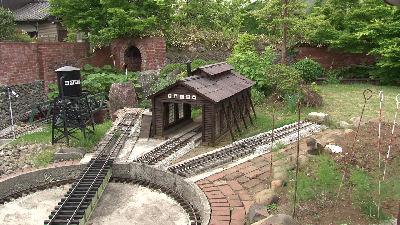鉄道懐古園の新緑