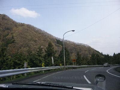芽吹きだした上野原の山