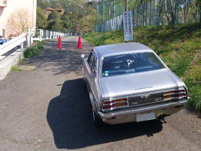 平山城址公園側のモトクロス場への道も通行止
