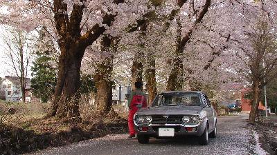 マツダルーチェと新潟・十日町の桜とチャージマツダのつなぎ