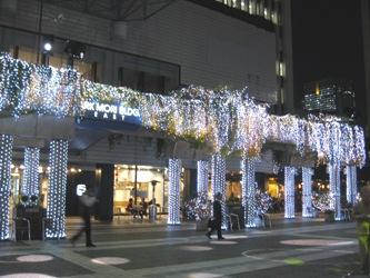 赤坂アークヒルズのクリスマスイルミネーション