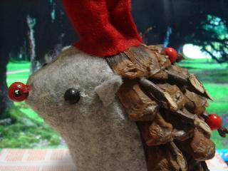 もちろん背中はクリスマス仕様ざんす♪