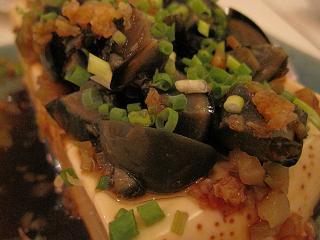お豆腐のピータン&サザーサイのせ♪