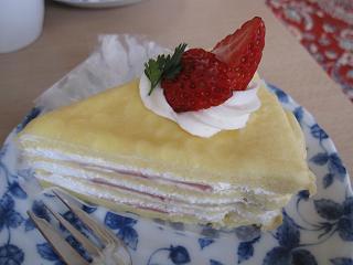 クレープのケーキ(≧▽≦)♪