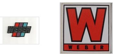 weber vintage decal