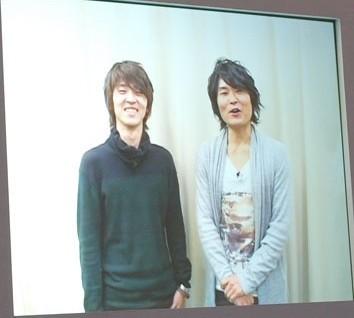 千葉進歩(右)と櫻井孝宏(左)