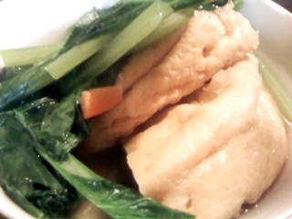 ガンモドキと小松菜の煮物