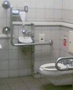 中井駅の「誰でもトイレ」。