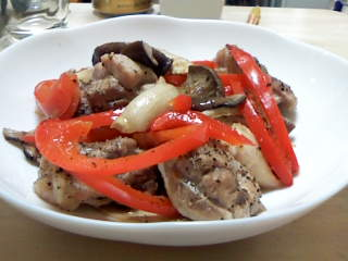 鶏肉料理。