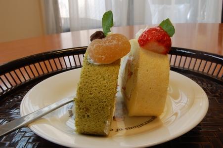 試食ケーキ横