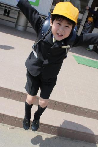 1年生になった長男の入学式