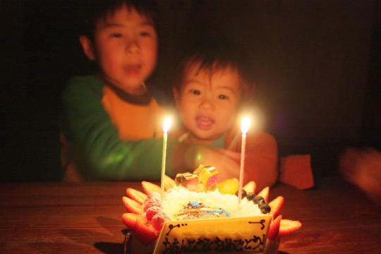 次男の2歳の誕生日