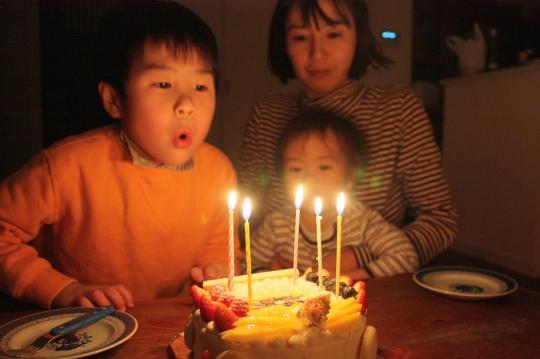 長男の6歳の誕生日