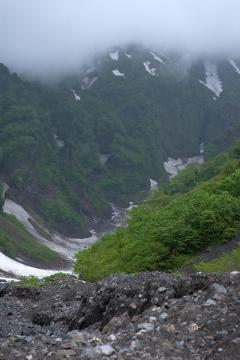 利尻島 ヤムナイ沢 万年雪