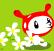 メロニャンinお花畑