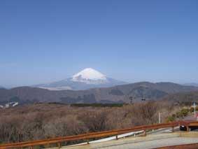 大涌谷から富士さん