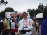 サロマ湖100kmウルトラマラソンゴール後