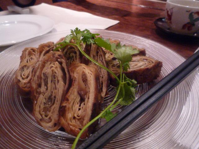 維新號(椎茸と筍の湯葉巻き)