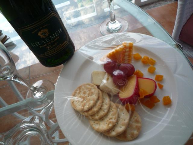 ハネムン特典(シャンパン&フルーツ・チーズ)