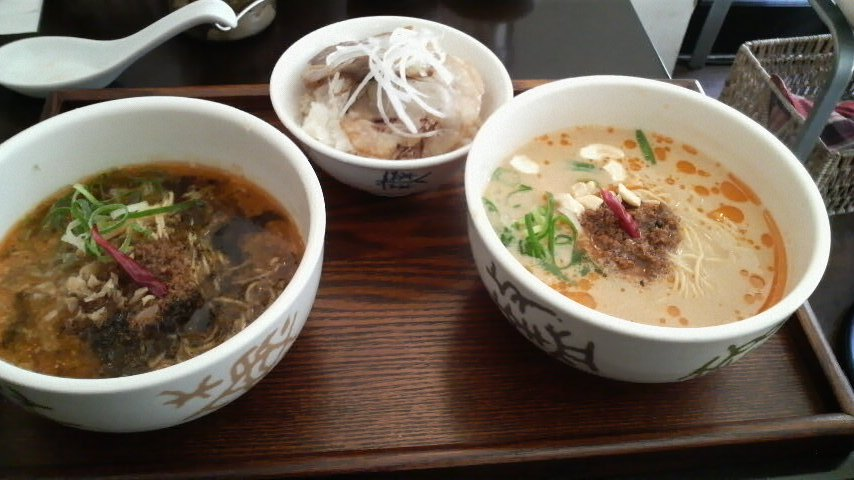 香家(青鬼・姫坦々麺&叉焼丼)